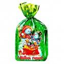 Пакет новогодний зелёный