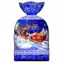 Пакет новогодний синий