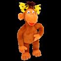 Озорная обезьяна с бантиком