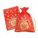 Новогодний подарочный мешок «Золотой» красный