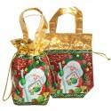 """Новогодняя подарочная сумочка с двумя ручками """"Ретро"""""""