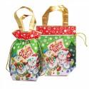 """Подарочная сумка-мешок """"Снеговики"""""""