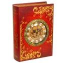 Книга-шкатулка с часами большая